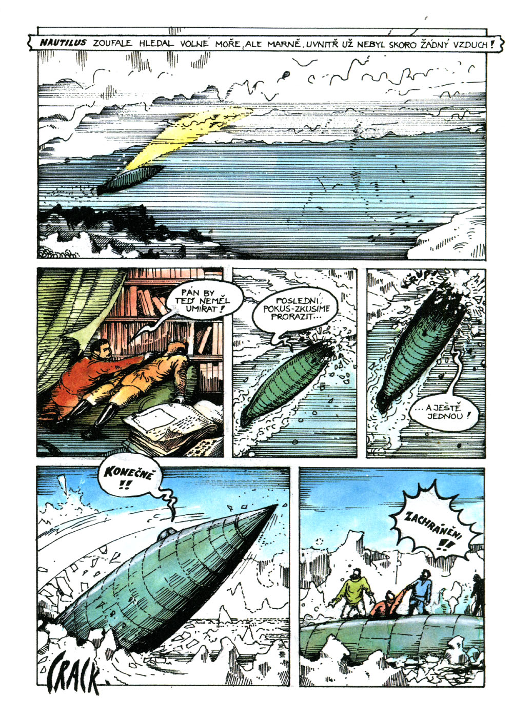 Kreslene Pribehy Dvacet Tisic Mil Pod Morem Comicsdb