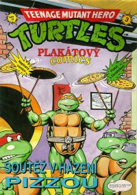 Teenage Mutant Hero Turtles - Plakátový comics #3: Soutìž v házení pizzou